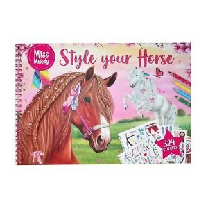 Miss Melody Style Your Horse Sticker & Colouring Book