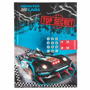 Monster Cars Top Secret Lockable Diary