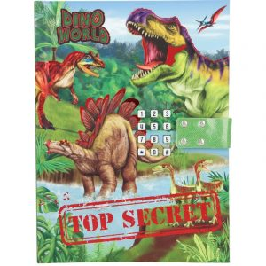 Dino World Top Secret Lockable Diary