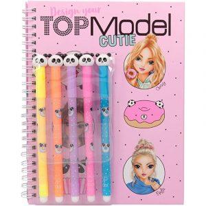 Top Model Cutie Colouring Book With 5 Panda Felt Tip Pens