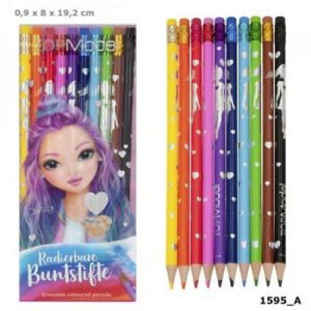 Top Model Erasable Colouring Pencils x 10