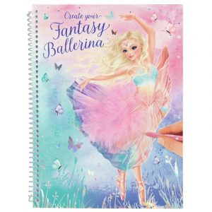 Create Your Fantasy Ballerina Colouring & Sticker Book