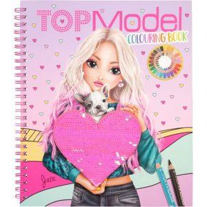 Top Model Colouring Book (Sequin Heart)
