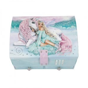 Fantasy Model Unicorn & Ice Skater Lockable Jewellery Box