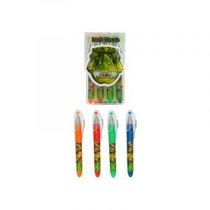 Dino World Pack of 4 Gel Pens