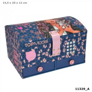 Top Model Leopard Print Lockable Jewellery Box
