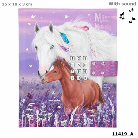 Miss Melody Horse & Foal Lockable Diary