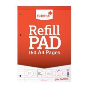 Silvine A4 Refill Pad - Lined