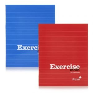 A5 Silvine Exercise Book - 120 pages - Red