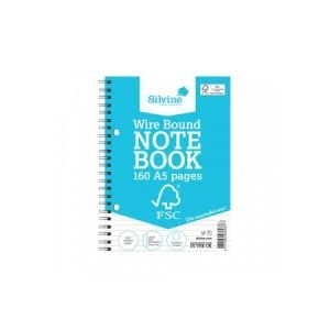 A5 Silvine Wirebound Notebook - 160 pages