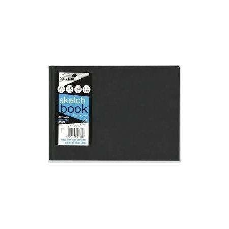 Silvine A5 Landscape Hardbacked Sketch Book - 48 Sheets