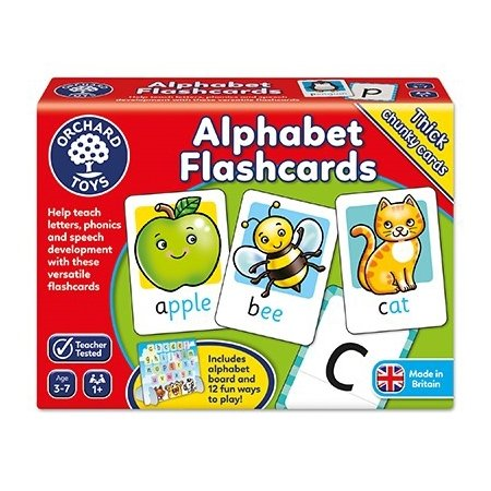 Orchard Toys Alphabet Flashcards x 26 Double Sided