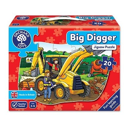 Orchard Toys Big Digger Jigsaw - 20 Pieces