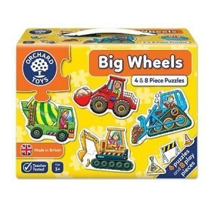 Orchard Toys Big Wheels 4 and 8 Piece Puzzles