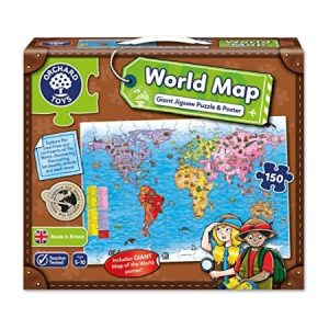 Orchard Toys World Map 150 Piece Puzzle & Poster