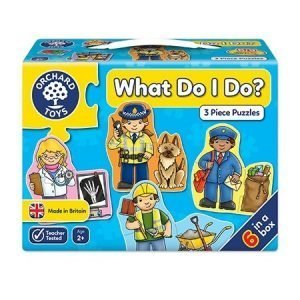 Orchard Toys What Do I Do? 3 Piece Puzzles