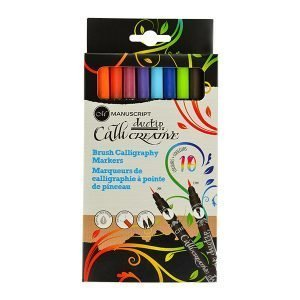 Manuscript Callicreative Duo-Tip Double-Ended Brush Pens x 10