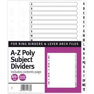 A4 A-Z Poly Dividers