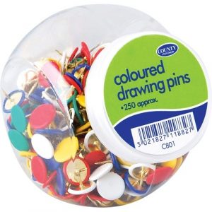 Coloured Drawing Pins x 250