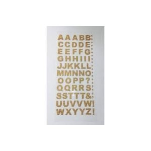 Alphabet Stickers - Gold
