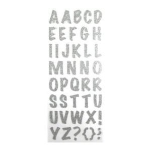 Alphabet Stickers - Silver