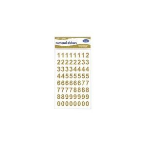 Numeral Stickers - Gold