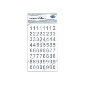 Numeral Stickers - Silver