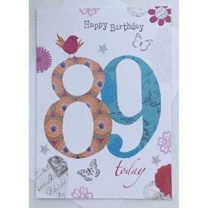 Happy Birthday 91 Today Age Card