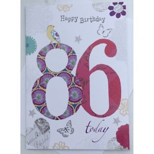 Happy Birthday 86 Today Age Card