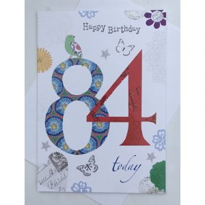 Happy Birthday 84 Today Age Card