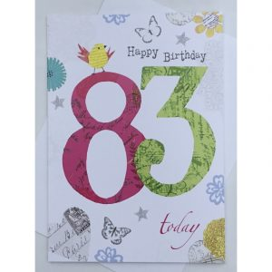 Happy Birthday 83 Today Age Card