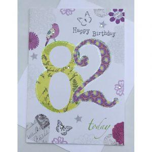 Happy Birthday 82 Today Age Card