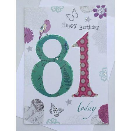 Happy Birthday 81 Today Age Card