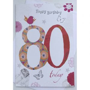 Happy Birthday 80 Today Age Card