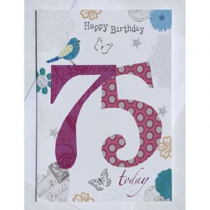 Happy Birthday 75 Today Age Card