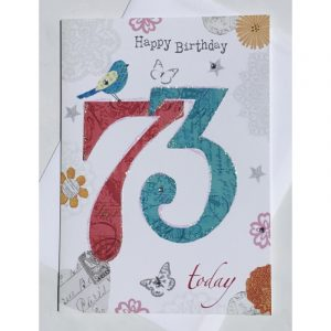 Happy Birthday 73 Today Age Card