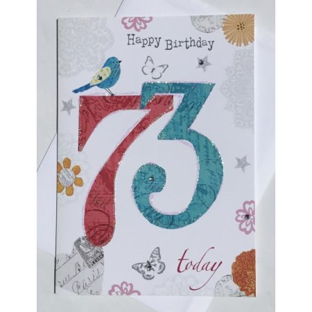 Happy Birthday 73 Today Age Card