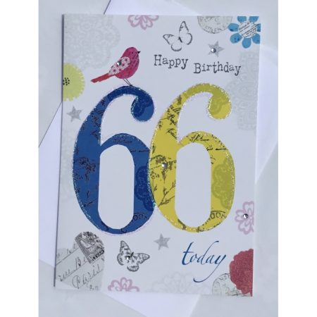 Happy Birthday 66 Today Age Card