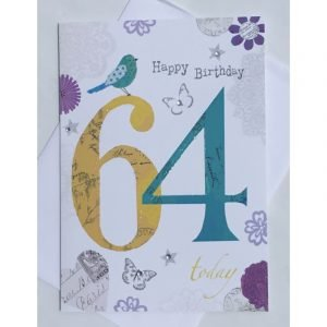 Happy Birthday 64 Today Age Card