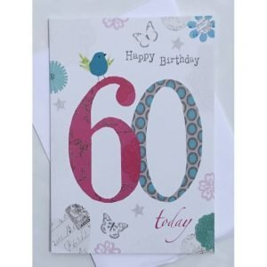Happy Birthday 60 Today Age Card