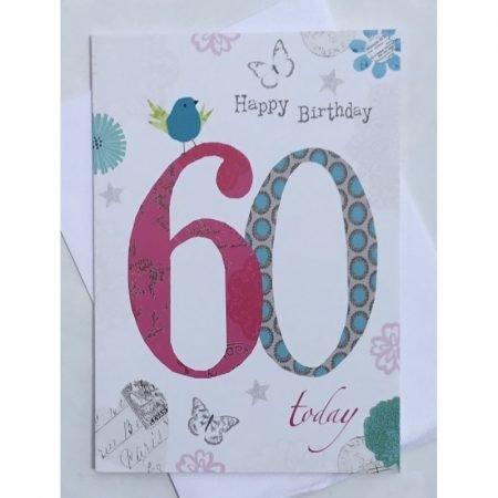 Happy Birthday 60 Today Age Card
