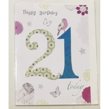 Happy Birthday 21 Today Age Card
