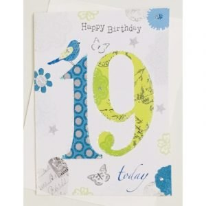 Happy Birthday 19 Today Age Card
