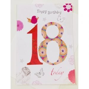 Happy Birthday 18 Today Age Card