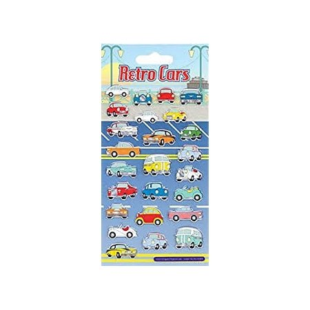 Paper Projects Stickers - Retro Cars