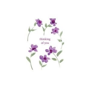 Thinking Of You Purple Flowers Card