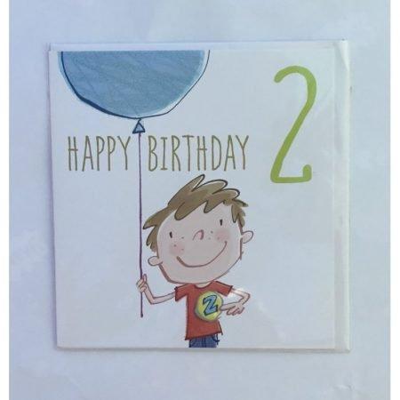 Happy Birthday 2 Boy Card