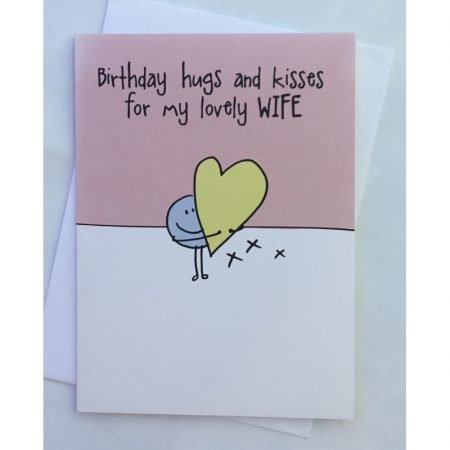 Birthday Hugs & Kisses For My Lovely Wife Card