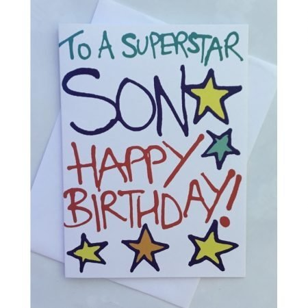 To A Superstar Son Happy Birthday Card