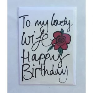 To My Lovely Wife Happy Birthday Red Rose Card